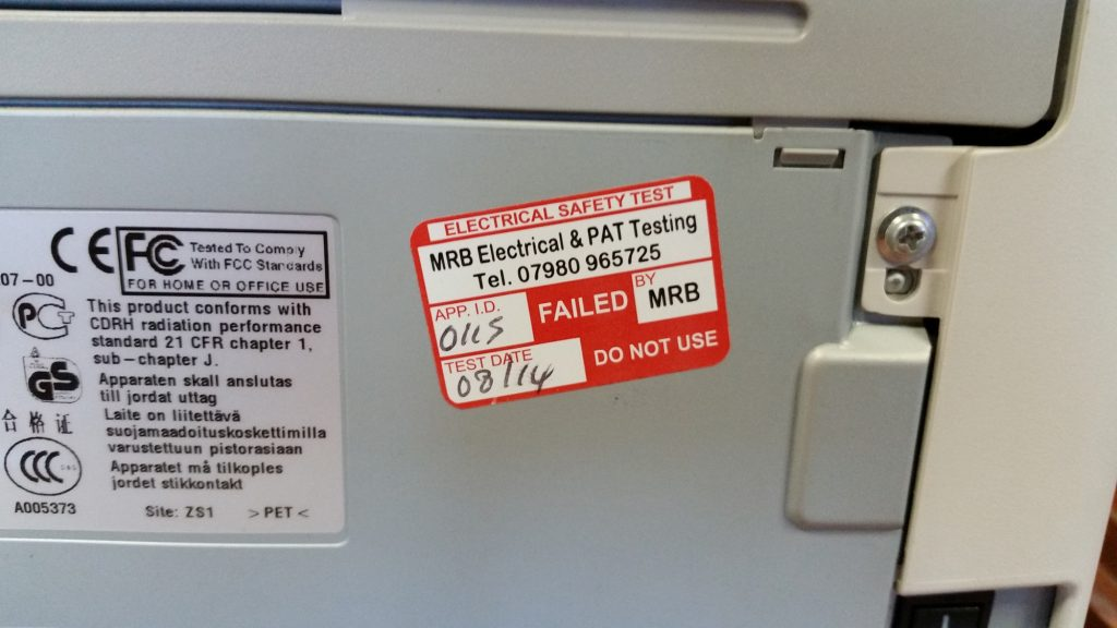 Printer / IT Equipment PAT Testing