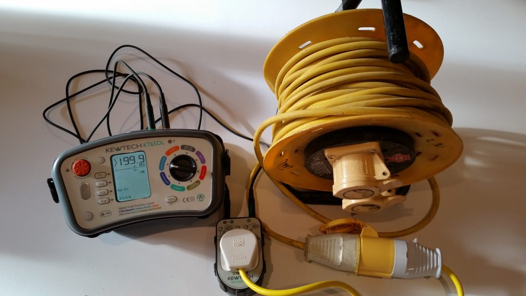 Extension Reel insulation testing